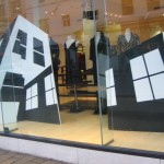 canvas buildings for window display